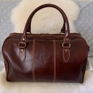 NWT Italian Leather Travel Bag
